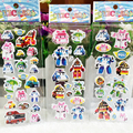 6 hojas de Poli Burbuja De Juguete Pegatinas de Dibujos Animados de Corea Del Coche Robot Coche Juguetes Transformación Gifs Navidad Para Los Niños