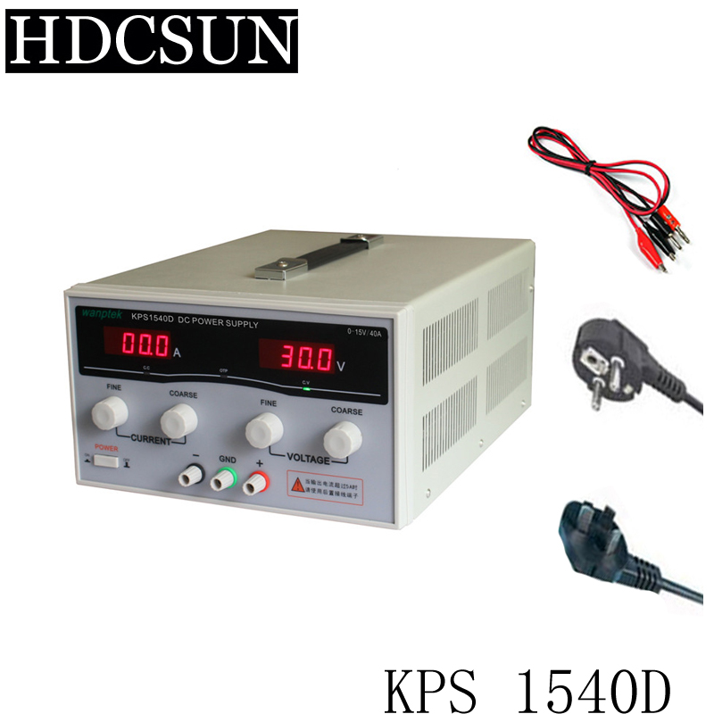 KPS1540D High precision Adjustable LED Dual Display Switching DC power supply 220V EU 15V/40A 220v kps3040d high power switching power supply 30v 40a adjustable power supply 1200w adjustable led dual display