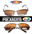 2017 rectangular marrón TAC de Conducir mejorada polarizado polaroid polarizado golf pesca UV 400 hombres mujeres gafas de sol