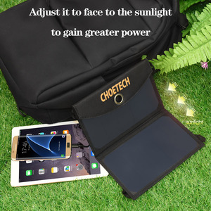 Image 5 - CHOETECH 19W Waterproof Solar Charger Foldable Outdoor Solar Panel Battery USB Charger with Auto Detect Tech For iPhone Samsung
