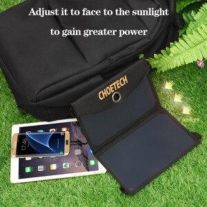 Image 5 - Choetech 19W Waterdichte Zonnelader Opvouwbare Outdoor Zonnepaneel Batterij Usb Oplader Met Auto Detecteren Tech Voor Iphone Samsung