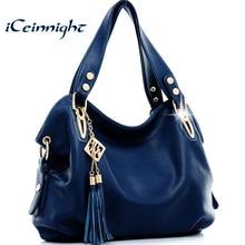 iCeinnight New 2017 fashion women leather handbags messenger clutch shoulder bags vintage tassel bags Bolsas Femininas ladies