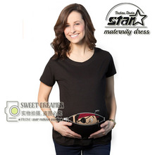 Funny Cute Pregnant Women T-shirts Cartoon Nursing Top Letters O-Neck Pregnancy Short Tee Shirts Maternity Clothes