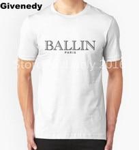BALLIN PARIS Mens & Womens Casual Short Sleeve Cotton O Neck T Shirt Letters Printed T shirt