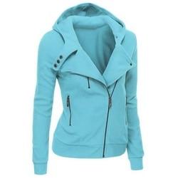 LITTHING Spring Zipper Warm Fashion Hoodies Women Long Sleeve Hoodies Jackets Hoody Jumper Overcoat Outwear Female Sweatshirts 2