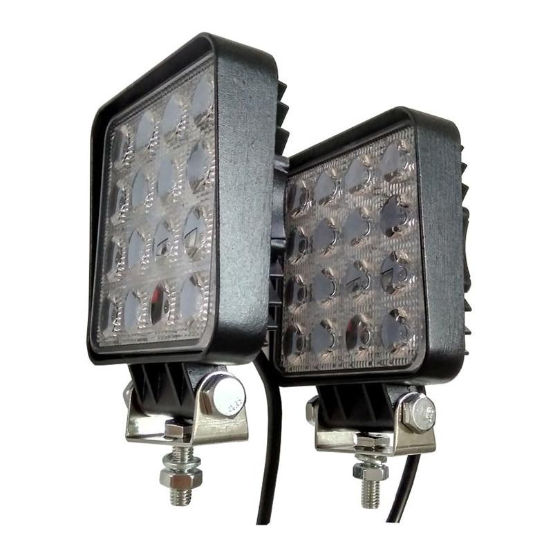 12V Spot Led Work Light Bar 48W 4inch Offroad Car Headlight For Truck Tractor Boat Trailer 4x4 SUV ATV Led Driving Light Lamp