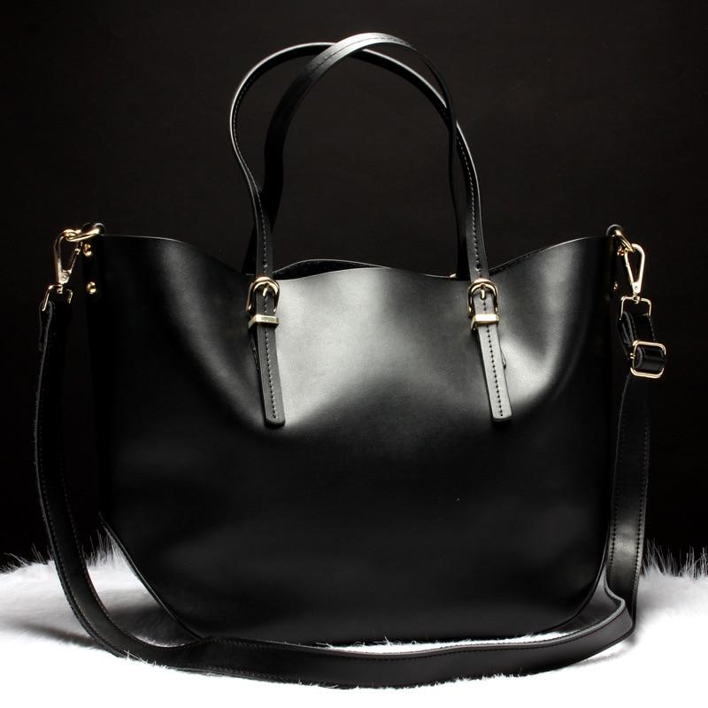 High quality fashion Casual Tote Women Shoulder Bags Cow Genuine Leather female Bag Brand Female Handbags Crossbody travel bag 2017 high quaitily casual fashion 014