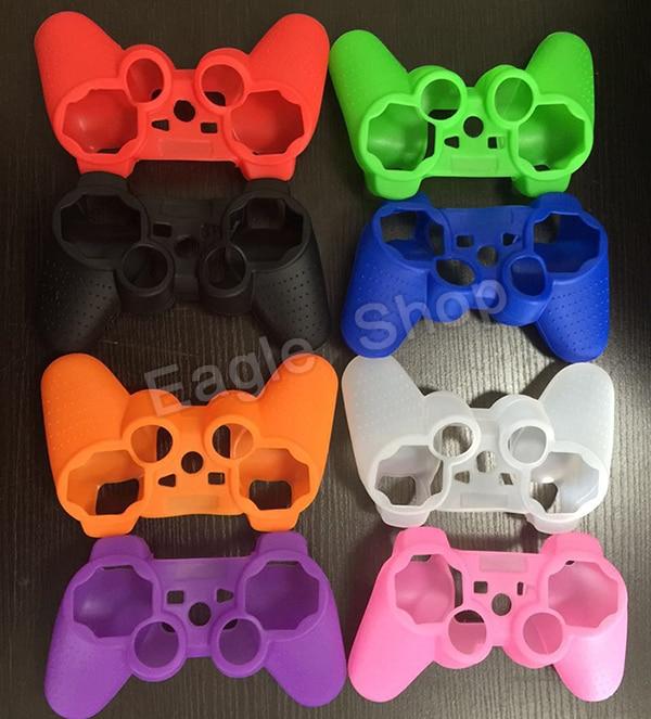 6 Cores de Silicone Caso Capa Protetora Da Pele Caso Envoltório para PS3 Controlador Joystick de Borracha Gel Frete Grátis