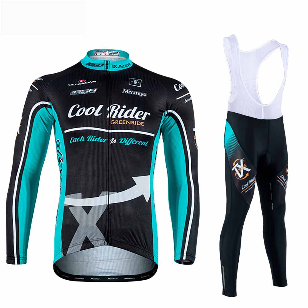 2017 Latest Spring Autumn Winter Mens Long-Sleeve Jersey Shirts Pants Sets MTB Bike Riding Racing Cycling Jersey Clothing Dress dichski outdoor bike coat quick dry mtb riding pants mountain 2017 long sleeve cycling sets suit male autumn winter jersey h233