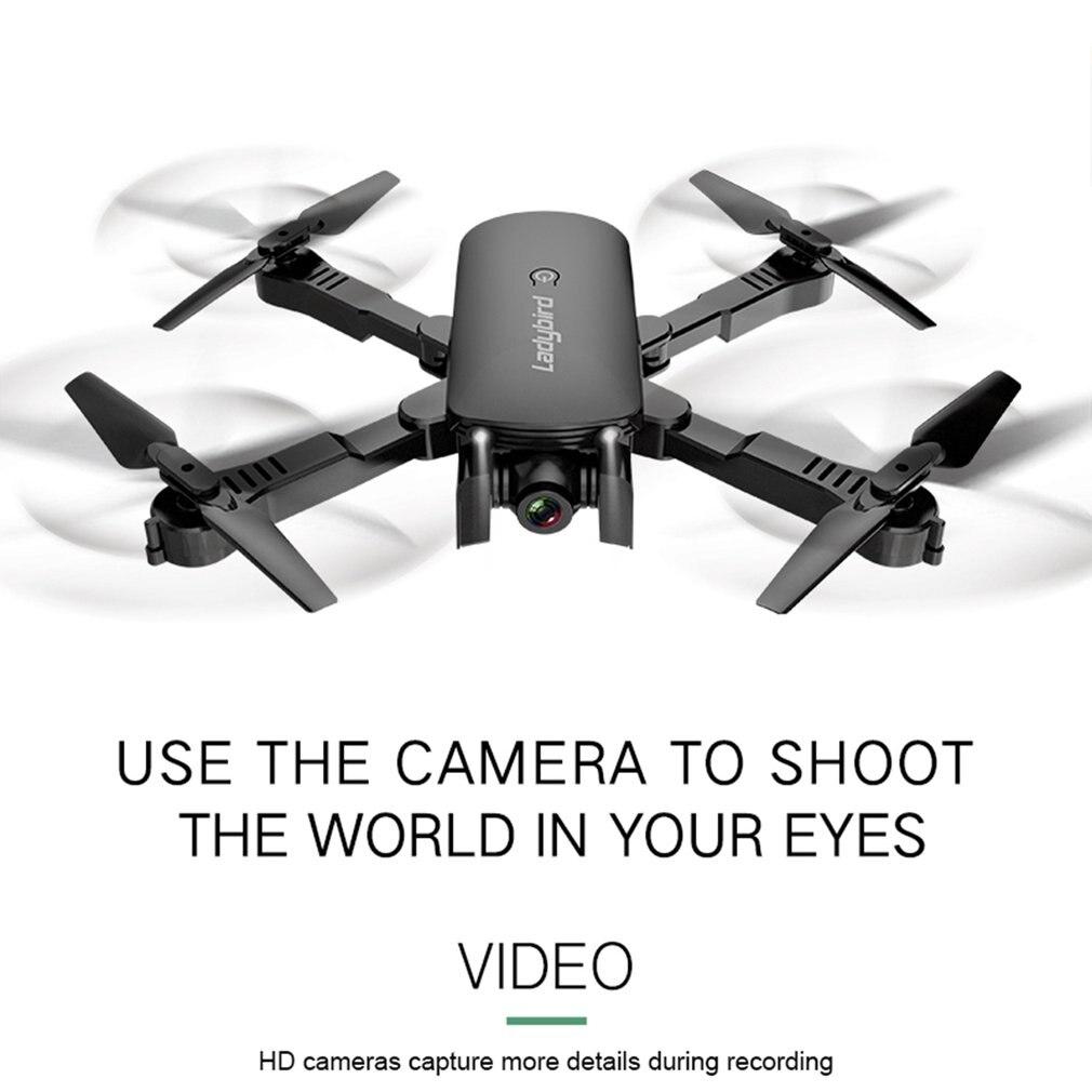 R8 Drone pliant professionnel HD aérien quatre axes avion flux optique suivant double caméra avec sac de stockage et jeu de batterie