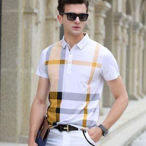 Image 3 - Hommes Polo chemise Offre Spéciale nouveau plaid 2019 été mode classique décontracté hauts manches courtes célèbre marque coton crâne de haute qualité