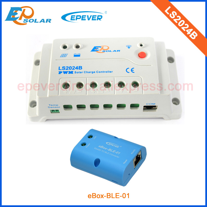 solar regulator EPEVER series pwm 20A LS2024B 24V battery charger controller bluetooth ble eBOX Phone APP wireless control цена