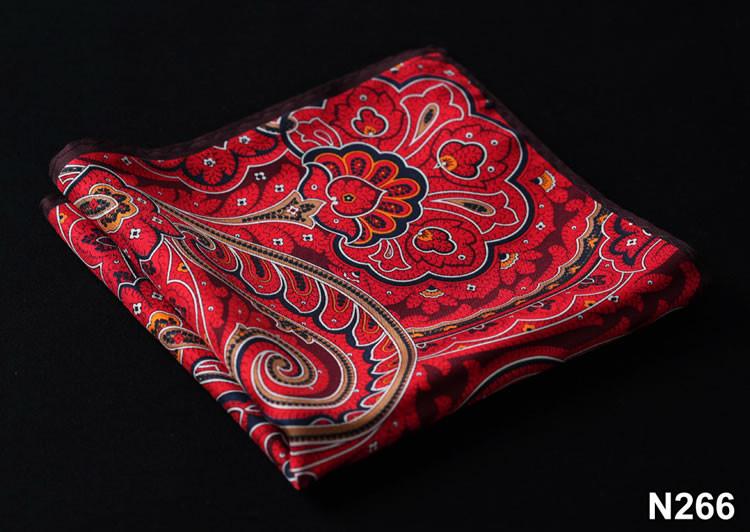 N266 HN26R Red Brown Paisley 35cm