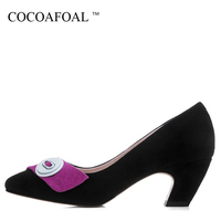 COCOAFOAL Woman Purple High Heels Shoes Apricot Fashion Sexy Stiletto Plus Size 34 43 Shoes Genuine