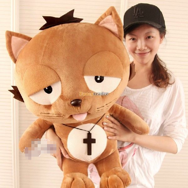 Fancytrader 90cm Korean TV Soaps Giant Anime Plush Stuffed Lazy Dinga Cat Toy, Nice Gift for Girlfriend, Free Shipping FT50250 fancytrader 2015 new 31 80cm giant stuffed plush lavender purple hippo toy nice gift for kids free shipping ft50367