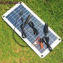 BUHESHUI Semi-flexible 18V/5V 10.5W Portable Solar Panel Charger For 12V Car Boat Motor Battery Charger DIY Solar System NEW