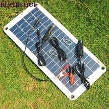 Carregador de Painel Portátil para 12 Bateria do Motor Buheshui Semi-flexível 18 V e 5 V 10.5 W Solar Car Boat Carregador de Diy Sistema Novo