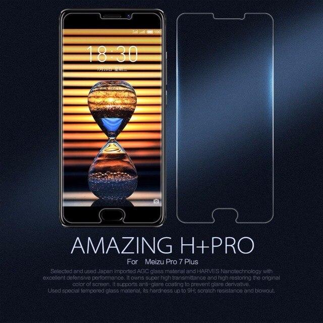 """Meizu Pro 7 Plus Glass защита экрана 9 H 0.2 мм 2.5D Nillkin Удивительный H + Pro протектор экрана из закаленного стекла 5.7"""""""