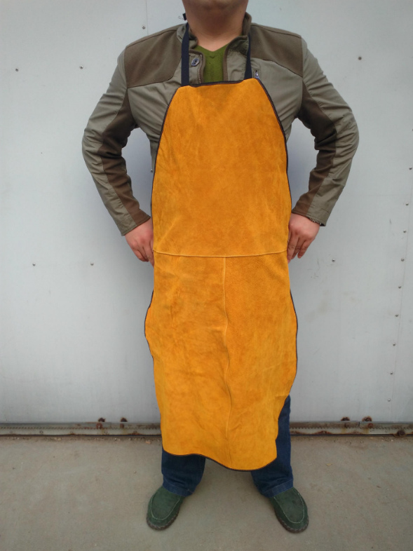NEW Welders Dual Leather Welding Cutting Bib Shop Apron Heat Resistant Workplace Safety Clothing Self Protect Yellow safurance welders dual leather welding