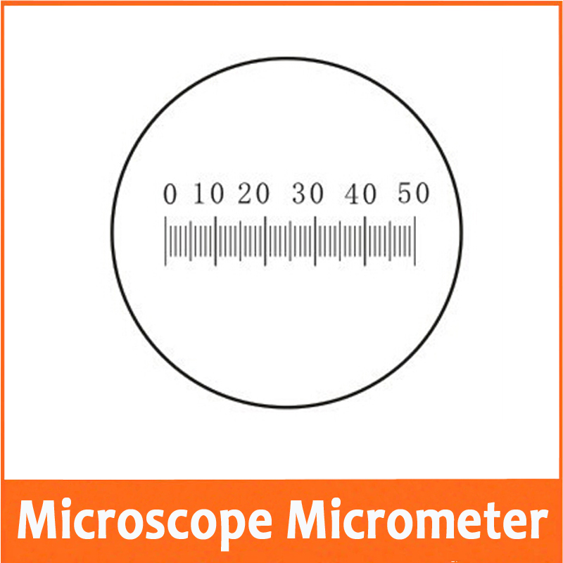 0 1MM Microscope Stage Eyepiece Objective Lens Micrometer Glass slide Reticle Scale Measuring Microscope Micrometer Calibration in Microscopes from Tools