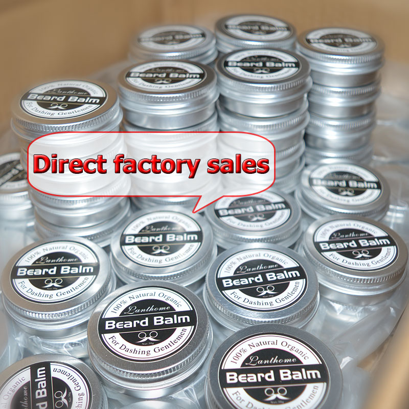 BF Beauty Fashion OEM DHL SHIPPING 100pcs For Wholesale Welcome To Make Your Logo Lanthome Natural  Beard  Wax Balm Organic Beard Conditioner