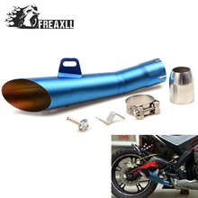 35MM-51MM Universal Motorcycle Exhaust Pipe Escape Scooter Muffler With DB Killer  For Honda CBR 600 RR C-ABS Hornet 600 900