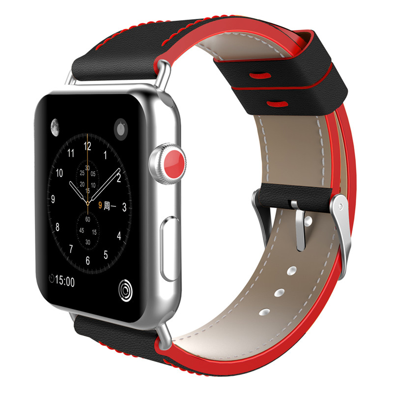 ASHEI for Apple Watch 3 Strap 38mm Genuine Leather Replacement Wrist Watchband for Apple Watch Series 2 1 iWatch Band 42mm cowhide genuine leather strap watch band for apple watch iwatch series 1 series 2 38mm 42mm wristband replacement with adapter