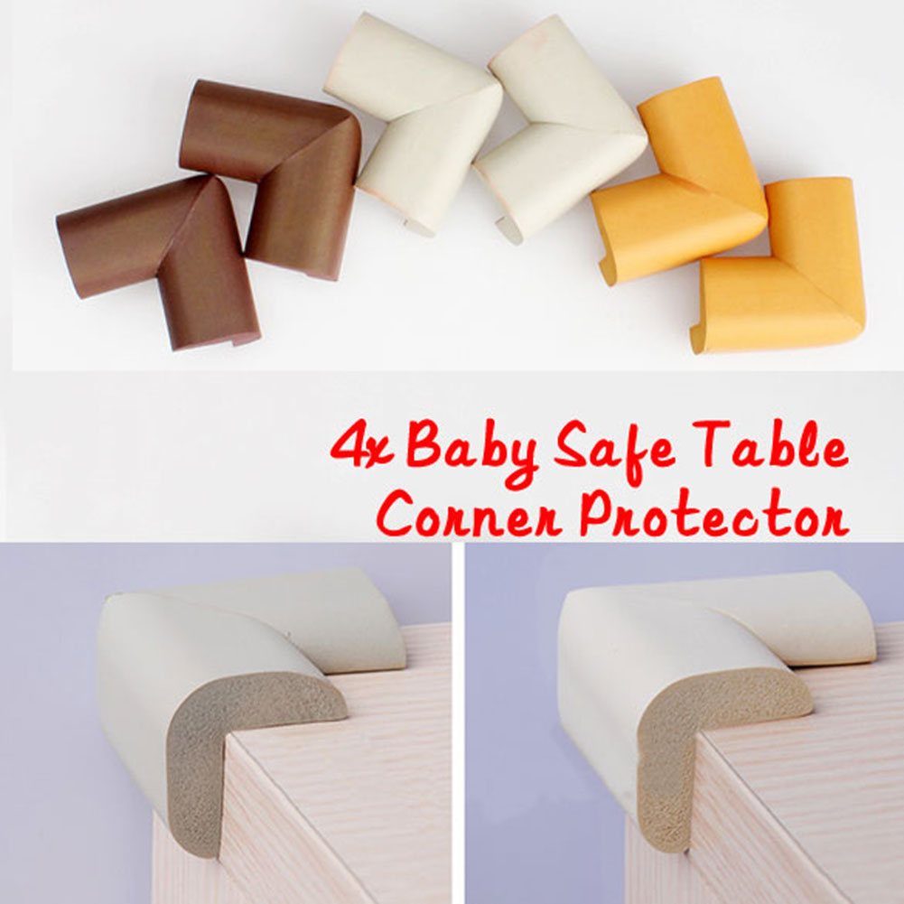 Hot sell 4 pcs Furniture fittings Anti-crash Protector Baby Safe Desk Table Corner Security Cushion  safety protectionHot sell 4 pcs Furniture fittings Anti-crash Protector Baby Safe Desk Table Corner Security Cushion  safety protection