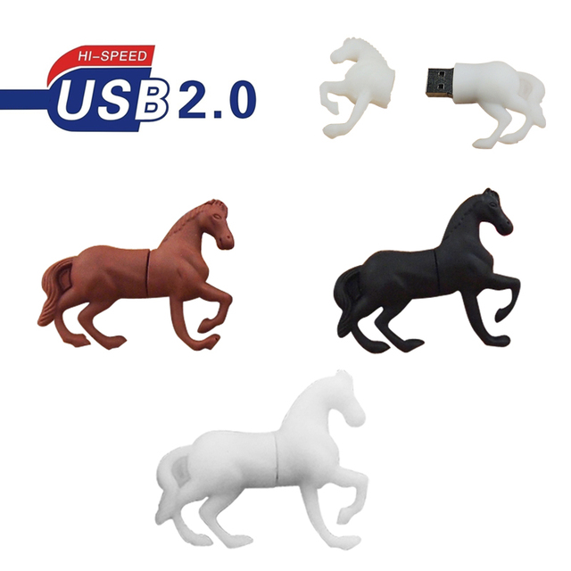 USB Flash Drive Mini Elegant Horse 4GB 8GB 16GB 32GB 64GB Pendrive USB 2.0  Cle USB for Children s Gifts Memoria USB Pen Drive 7b708d9cf7
