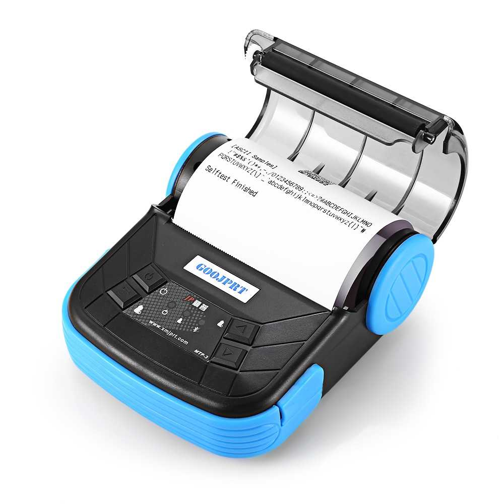 GOOJPRT MTP-3 Portátil 80mm Impressora Térmica Bluetooth Requintado Design Leve Plug UE Suporte POS Android Multi-língua