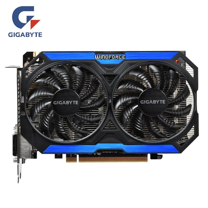 GIGABYTE Original Geforce GTX 960 2GB Video Card 128Bit GDDR5 Graphics Cards For NVIDIA Map GTX960 GM206 GV-N960OC-2GD Hdmi