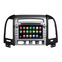 for hyundai SANTA FE 2006-2011 android 7.1.1 system HD 1024*600 car dvd player gps navigation radio 3G wifi dvr free map camera