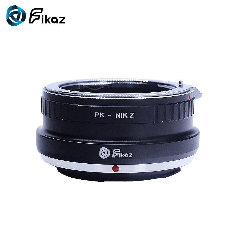 Fikaz PK-Nik Z Caméra Lentille adaptateur de montage Anneau pour Pentax P PK Monture Nikon Z Montage Z6 z7 adaptateur d'objectif de caméra