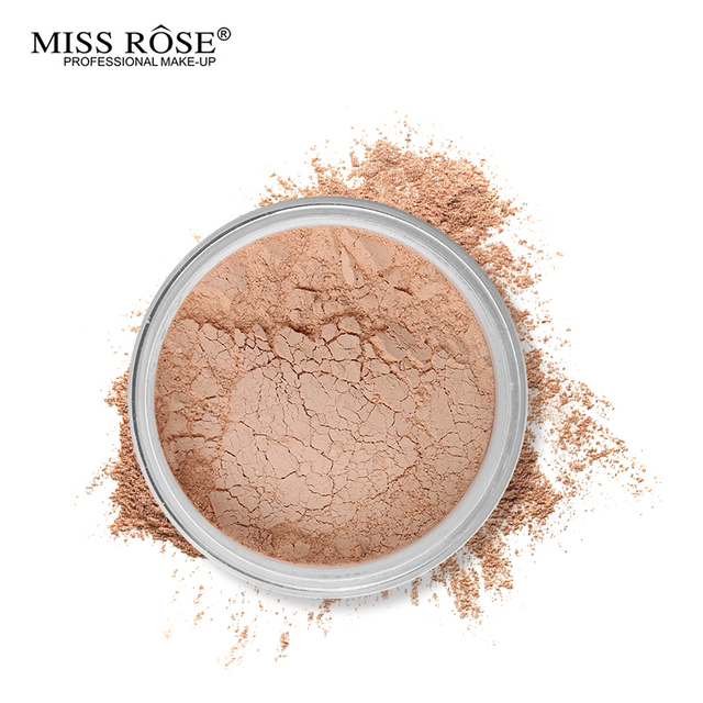Miss Rose 12 Colors Face Foundation Makeup Transparent Loose Powder Oil-control Silky Setting Powder Mineral Matte Finish Tools 3