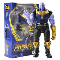 18cm Avengers Infinity War Thanos Super Hero Movable Figurine PVC Action Figure Collectible Model Toys Doll