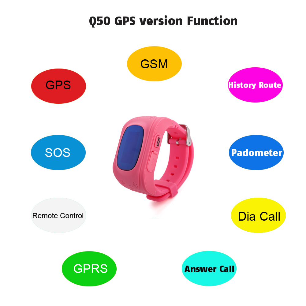 Q50 OLED Child GPS Tracker SOS Smart Monitoring Positioning Phone Kids GPS 002