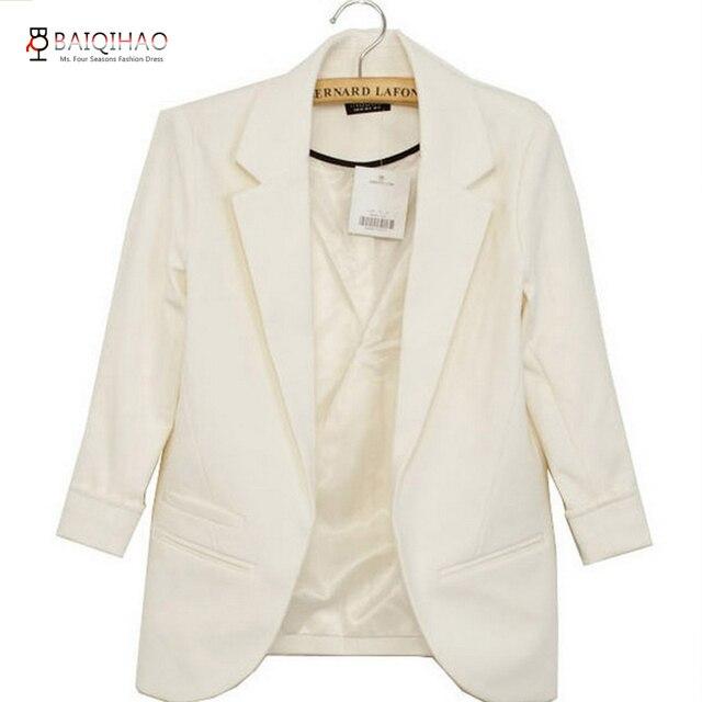 1ec5624b802ddc US $24.98  BQH Women white blazers and jacket veste costume leopard blazer  jaqueta feminina casual chaqueta mujer veste blazer femme y53-in Blazers ...