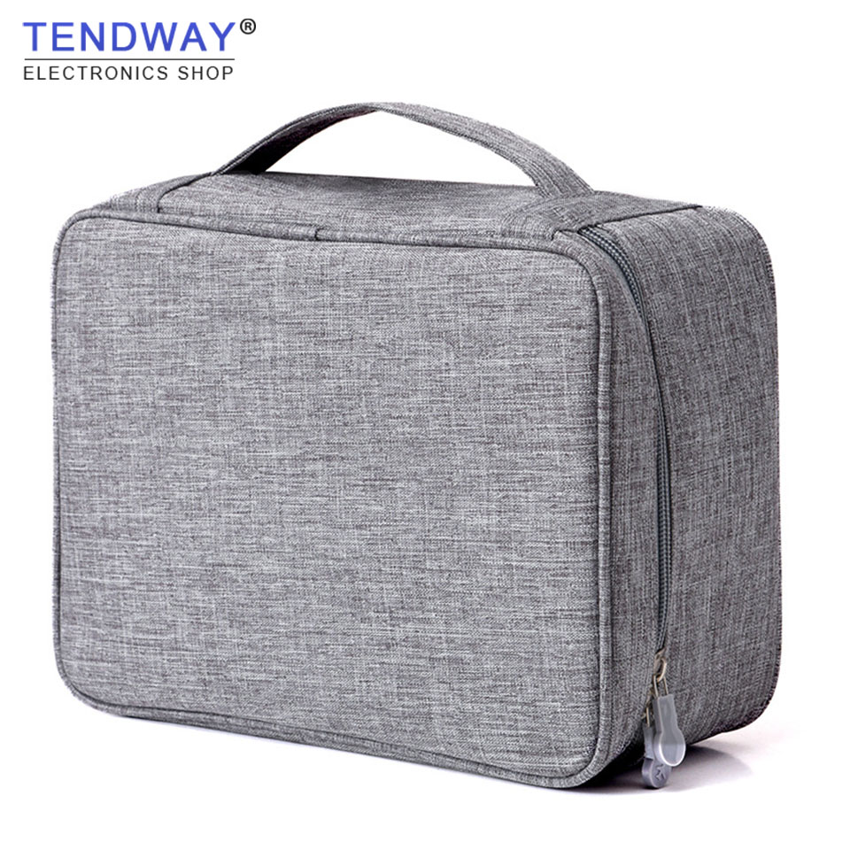 Tendwawy Cable Organizer Management Wire Earphone USB Cable Storage Bag Data Cable Storage Bag 3C Accessories все цены