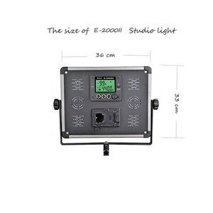 Image 2 - 140W panel LED Lamp Wireless RC LCD display E 2000II Studio bio color Photography continue lighting + handbag + tripod set