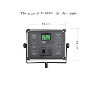Image 2 - Painel 140W CONDUZIU a Lâmpada Sem Fio RC display LCD E 2000II Estúdio bio cor Fotografia continuar iluminação + bolsa + conjunto tripé