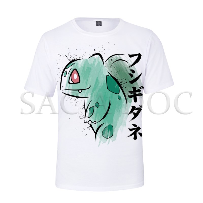 Pokemon Bulbasaur Charmander 3D Printed T Shirt Men Women Casual Streetwear Tops Tee Shirts Summer Short Sleeve T-Shirt image