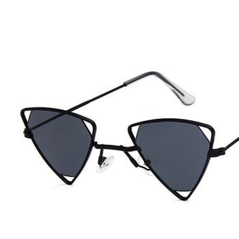 Yoovos 2019 New Punk Sunglasses Women Triangle Oculos New Vintage Glasses Openwork Metal Frame Fashion Sun Glasses Men Okulary 8