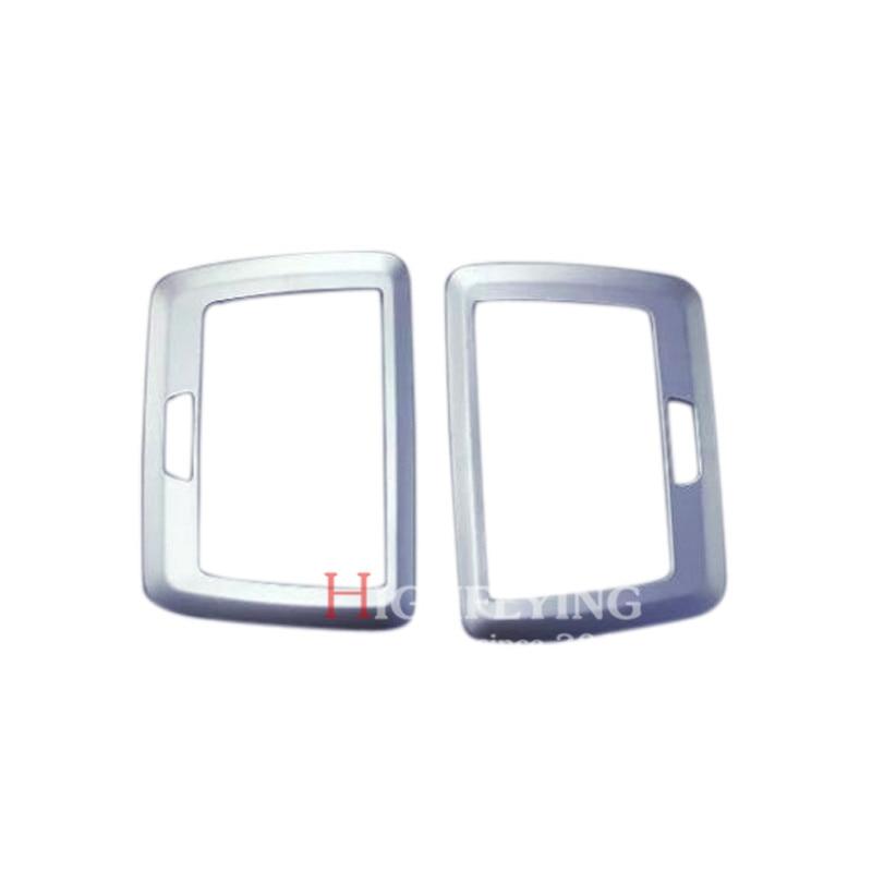 2pcs Chrome font b Interior b font Rear Roof Make up Mirror Cover Trim For BMW