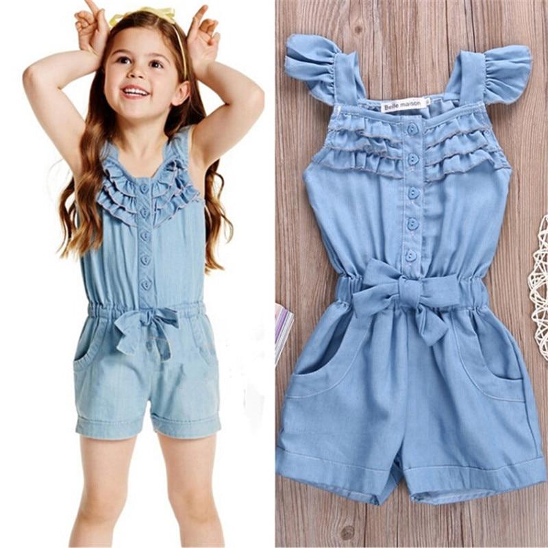 Summer Style Toddler Girls Kids Summer Soft Jumpsuit -7932