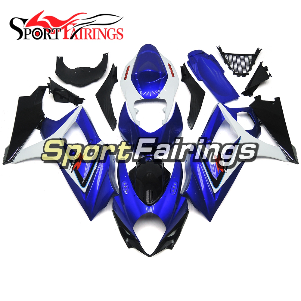 Fairings Fit Suzuki GSXR-1000 K7 Year 2007 2008 GSXR1000 07 08 ABS Motorcycle Fairing Kit Bodywork Cowling Blue Black Carenes