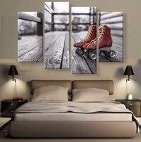 JIE LÀM ART 4 CÁI Prints Hiện Đại Trang Trí Nội Thất Living Room Canvas In trượt Con Lăn Painting On Canvas Modular hình ảnh tường