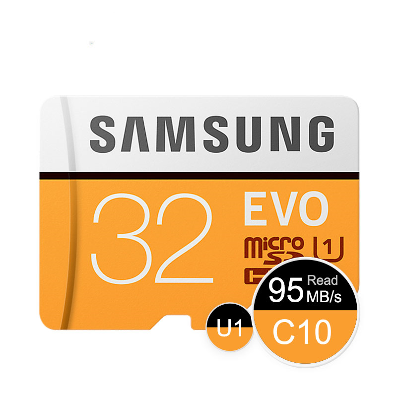 SAMSUNG EVO 64GB U3 Memory Card Class10 Micro SD TF/SD Cards C10 R100MB/S MicroSD XC UHS-1 Support 4K UItra HD