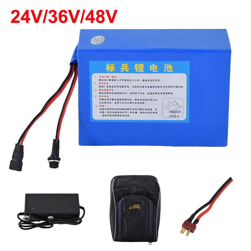 24V/36V/48V Electric Bike Lithium Battery Fit For 250W/350W Motor Power Ebike Electric Bicycle Battery 10AH/12AH/15AH/18AH/20AH Electric Bicycle Battery     - title=