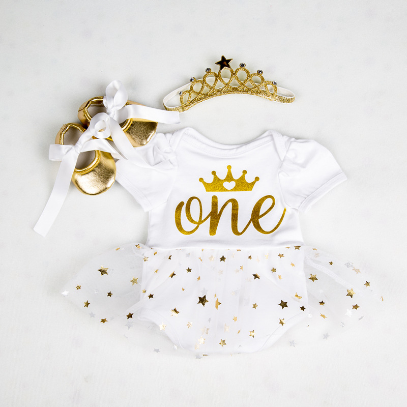 Baby Costumes Romper Dress 1st Birthday Outfits Bebes Jumpsuit Newborn Baby Girl Clothes Infant Clothing Newborn Birthday Gifts