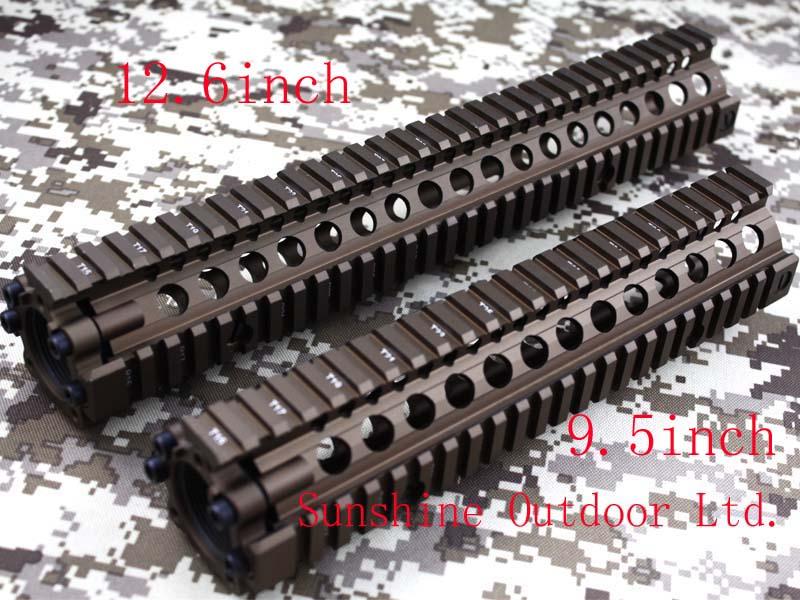 Split type 9.5&12.6 inch Picatinny rail aluminum handguard rail system for AEG M4/M16-Free Shipping hunting picatinny rail 4 25 inch handguard rail cqb tactical rail systems for aeg m4 m16